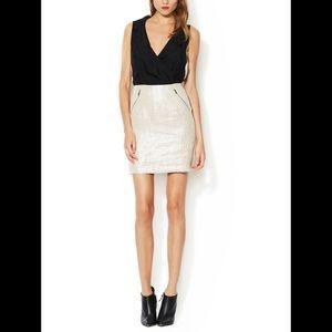 MACKAGE Silk / Linen Sheath Mini Dress 0